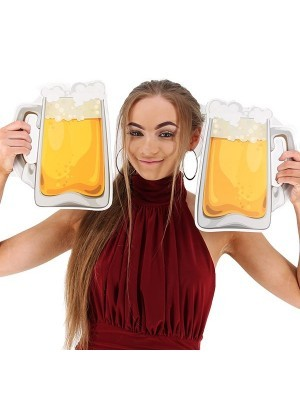 Giant Frothy Beer Glass (Left Handle) Photo Booth Prop