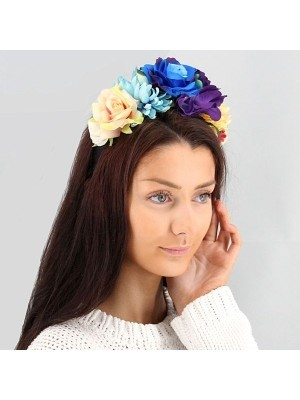 Rainbow Ombre Flower Crown