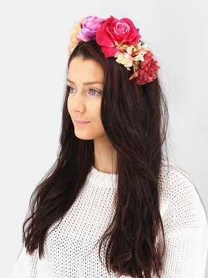 Pink Ombre Flower Crown