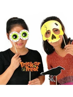 Readymade 'Trick Or Treat' Halloween Props On Sticks