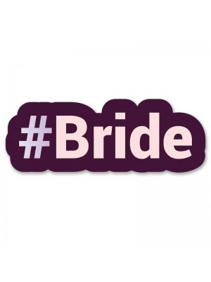#Bride Trending Hashtag Oversized Photo Booth PVC Word Board Sign