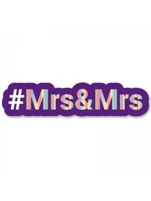 #Mrs&Mrs Trending Hashtag Oversized Photo Booth PVC Word Board Sign