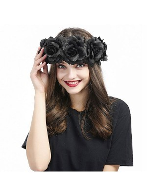 Beautiful Black Garland Flower Headband