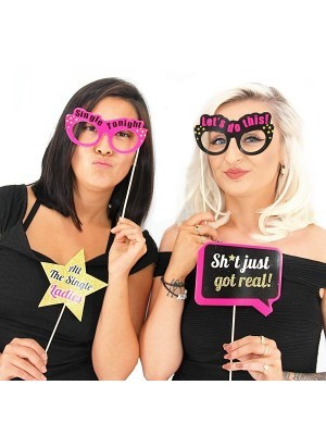 Readymade Glitter Hen Party Props On Sticks