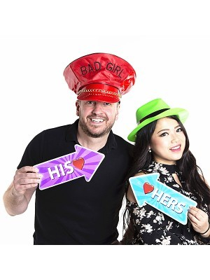 'His' Word Board Photo Booth Prop