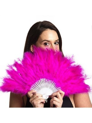 Stunning Hot Pink Feather Fan