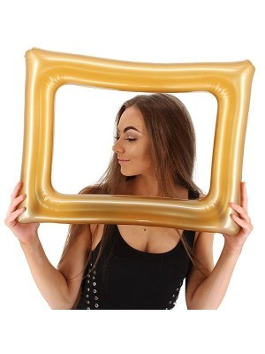 Inflatable Gold Posing Frame