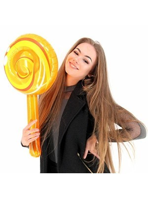 Giant Inflatable Orange Lollipop