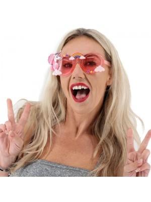 Unicorn Rainbow Sunglasses with Pink Lenses