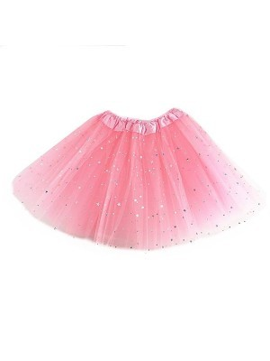 Kids - Pink Tutu with Shiny Silver Stars