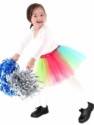 Kids Rainbow Coloured Tutu Skirt