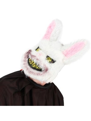 Killer White Bunny Face Mask Halloween Fancy Dress Costume