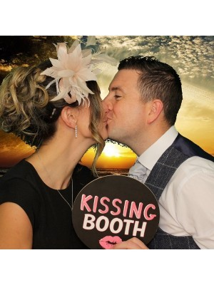'Kissing Booth' Circle Word Board Photo Booth Prop