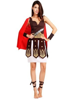 Ladies Roman Gladiator Fancy Dress Costume - One Size