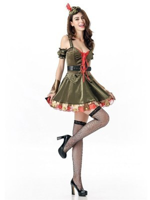 Lady Robin Hood Fancy Dress Costume