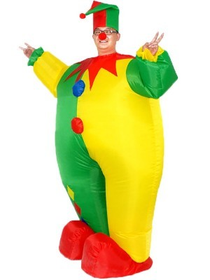 Larger than Life Jester the Clown Inflatable Fancy Dress Costume