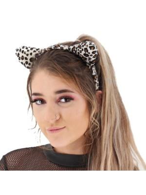 Leopard Print Animal Ears Headband
