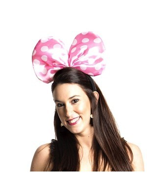 Minnie Mouse Style Pink Dot Bow