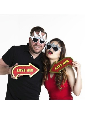 Vegas Showtime Style 'Love' Photo Booth Prop Multi Pack of 6