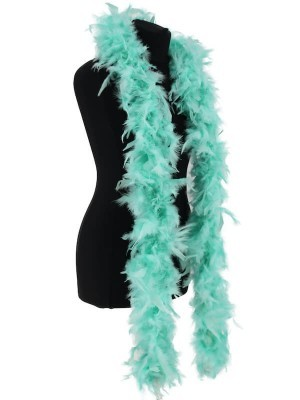 Luxury Mint Green Feather Boa – 80g -180cm