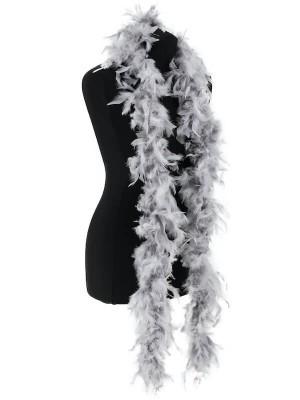 Beautiful Silver Grey Feather Boa – 50g -180cm