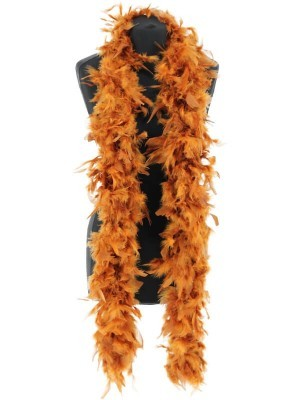 Luxury Tawny Feather Boa – 80g -180cm