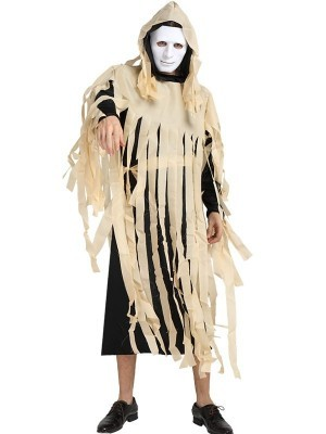 Male Mangled Zombie Halloween Fancy Dress Costume – One Size