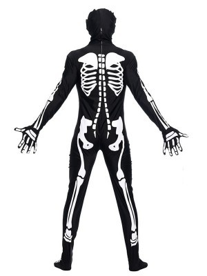 Male Skeleton Bodysuit Fancy Dress Halloween Costume