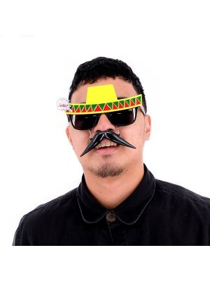 Mexican Sombrero Sunglasses With Moustache