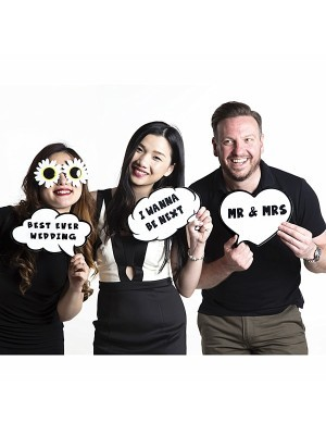 Best Ever Wedding Speech Bubble Photo Booth Prop