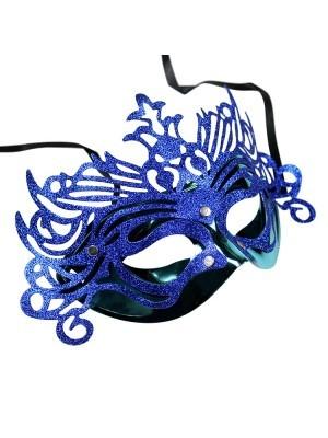 Ornate Masquerade Mask Blue