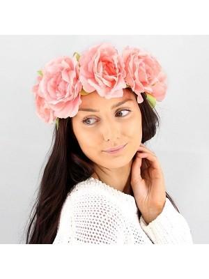 Stunning Pastel Pink Garland Flower Headband