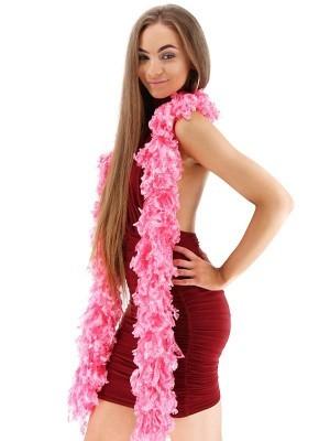 Luxurious Pink Featherless Boa
