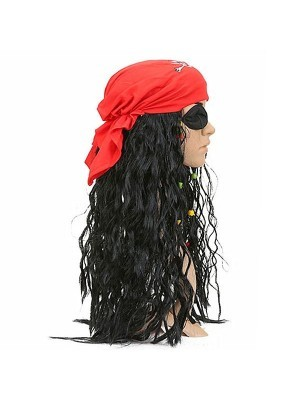 Pirate Bandanna Wig - Red