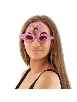 Pretty Pink Flamingo Fun Glasses
