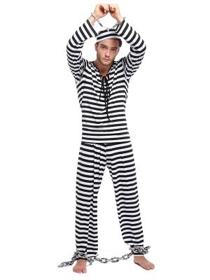 Male Runaway Prisoner Fancy Dress Costume