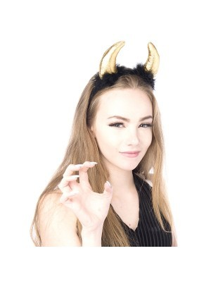 Gold Devil Headband