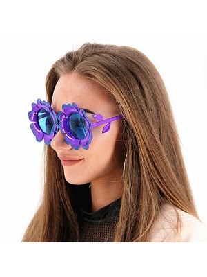 Pretty Coloured Purple Sunflower Sunglasses