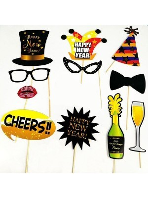 Ready Made New Years Eve Props On Sticks