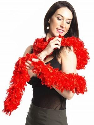 Luxurious Red Featherless Boa