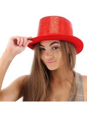 Red Glitzy Top Hat