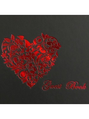 Guestbook with Red Heart