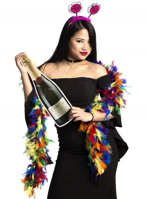 Luxury Multi-Coloured Feather Boa – 80g -180cm