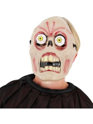 Halloween Fancy Dress Costume Rotting Skeleton with Popping Eyes Face Mask
