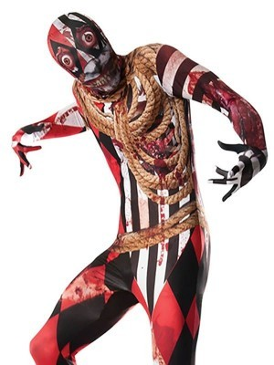 Scary Zombie Acrobat Circus Performer Men's Halloween Costume
