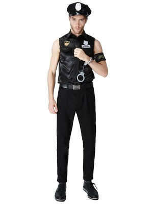 Sexy Policeman Fancy Dress Costume