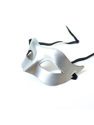 Shiny Eye Mask Silver