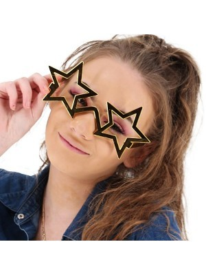 Shiny Gold Star Frame Sunglasses
