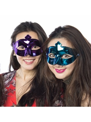 Shiny Masquerade Mask Purple