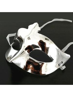 Shiny Masquerade Mask Silver